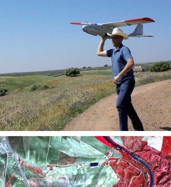 Hyperspectral imaging from UAVs